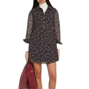 New Frank And Oak Floral Pattern Fit & Flare Dress